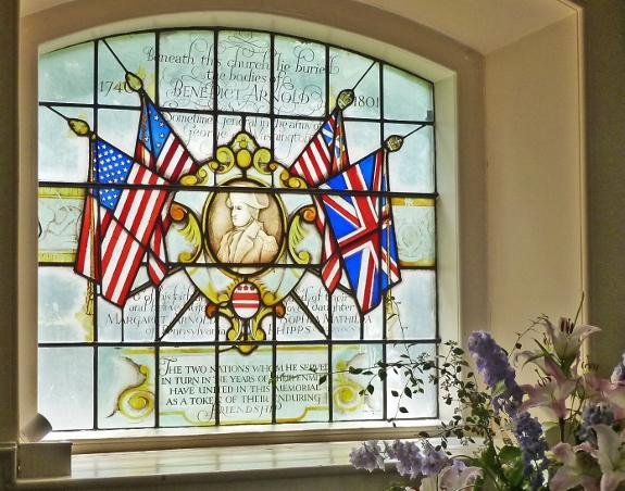 Бенедикт Арнольд похоронен в Лондоне в церкви Баттерси