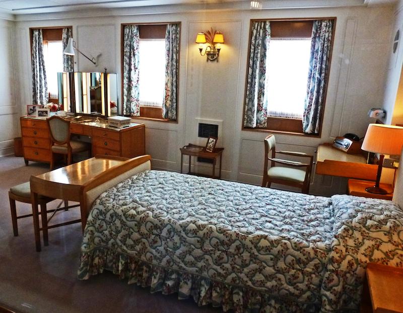 Королевская яхта Британия, спальня Королевы